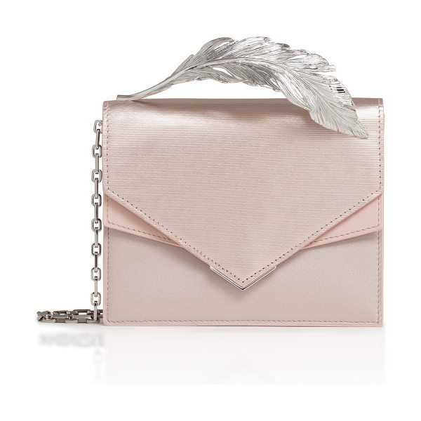 Ralph & Russo Alina Calf Leather Clutch in neutral - This *Ralph & Russo* Alina bag is rendered in nappa...