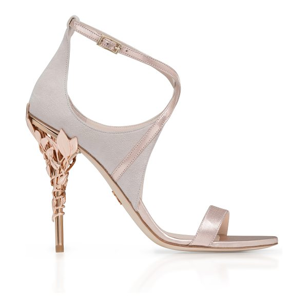 Ralph & Russo Eden Suede Sandal in pink - This *Ralph & Russo* sandal is rendered in suede...