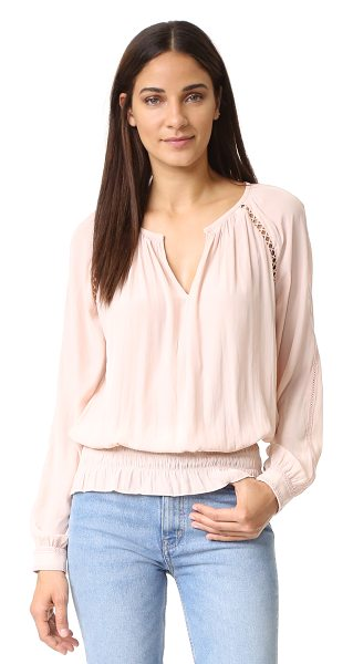 Ramy Brook Alexa Top in blush - A Victorian inspired Ramy Brook top, embellished with...