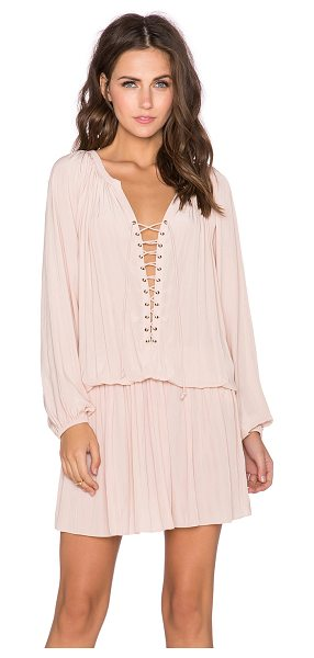 Ramy Brook Alexandra dress in blush - Silk blend. Dry clean only. Unlined. Lace-up front with...