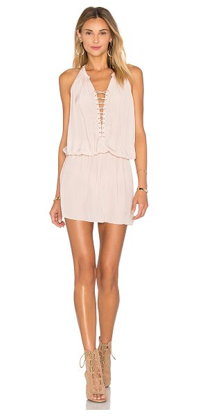 Ramy Brook Alexandra Dress in blush - 100% poly. Dry clean only. Unlined. Lace-up front with...