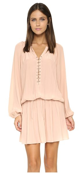 Ramy Brook Alexandra dress in blush - Ruching accentuates the fluid drape of this Ramy Brook...