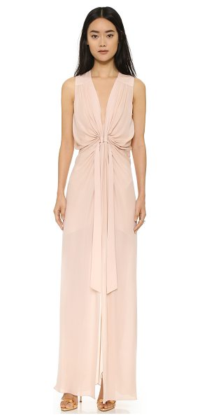 Ramy Brook Cannes gown in blush - A draped silk gown by Ramy Brook, fashioned with a...