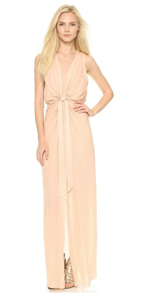 Ramy Brook Cannes gown in blush - Exclusive to Shopbop. Delicate knots gather the blouson...