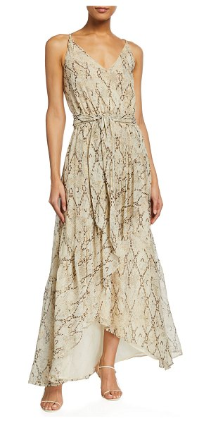 Ramy Brook Clancy Printed Maxi Dress in sand combo