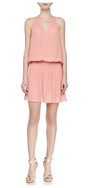 Ramy Brook Dawn swingy smock-waist dress in gypsy rose -  Ramy Brook Dawn dress in georgette. Halter neckline;...