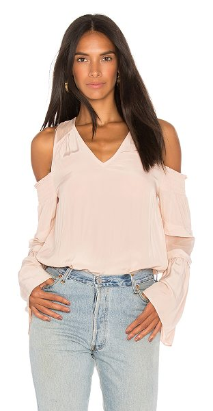 Ramy Brook Faretta Top in blush - Self: 100% polyCombo: 100% silk. Dry clean only. Smocked...