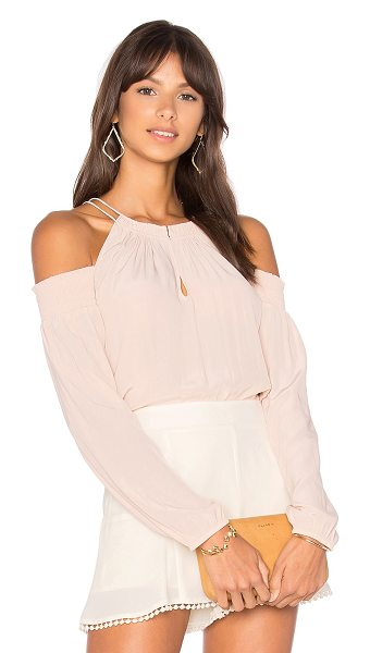 Ramy Brook Heidi Top in pink - 100% silk. Dry clean only. Front keyhole with hook and...