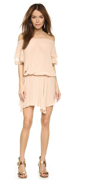 Ramy Brook Jessa dress in blush - A romantic Ramy Brook dress in a soft, silky weave....