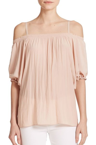 RAMY BROOK Jolie cutout blouse - A flirty, feminine blouse detailed with cutout shoulders...