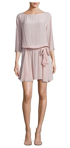 RAMY BROOK kelsey studded sleeve dress - Alluring dress highlighted with studded sleeves. Boat...