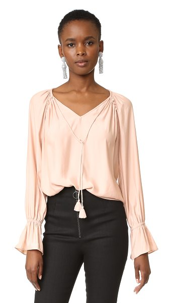 Ramy Brook lanie blouse in blush - A fluid, lightweight Ramy Brook blouse with a hint of...