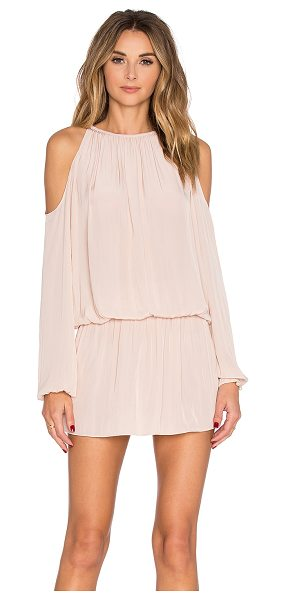 Ramy Brook Lauren Dress in blush - 100% poly. Dry clean only. Unlined. Smocked waist....