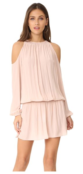 Ramy Brook lauren dress in blush - A blouson Ramy Brook dress with exaggerated cutouts at...
