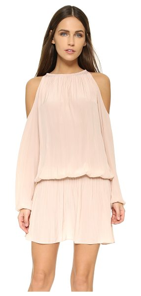 Ramy Brook Lauren dress in blush - Shoulder cutouts add a flirty touch to this fluid,...