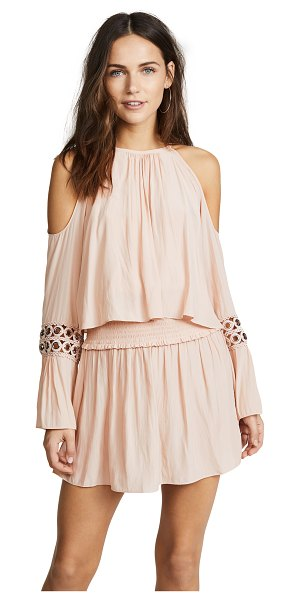 RAMY BROOK libby dress in blush - Fabric: Slinky weave Wide, smocked elastic waistband...
