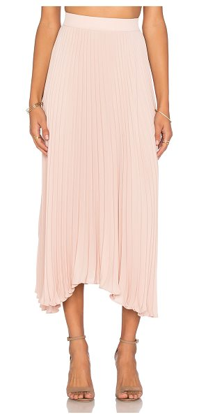 Ramy Brook Lola skirt in blush - 100% poly. Dry clean only. Unlined. Elasticized waist....