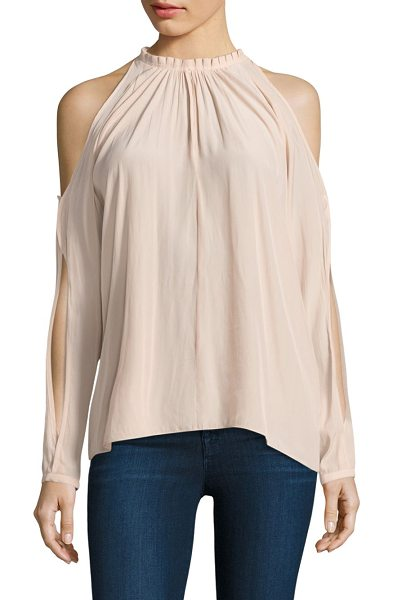 Ramy Brook milan cold shoulder top in blush - A cool top with cold shoulders and cutout sleeves....