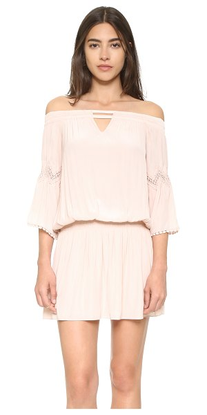 Ramy Brook Nicci dress in blush - An off shoulder Ramy Brook dress rendered in a silky...