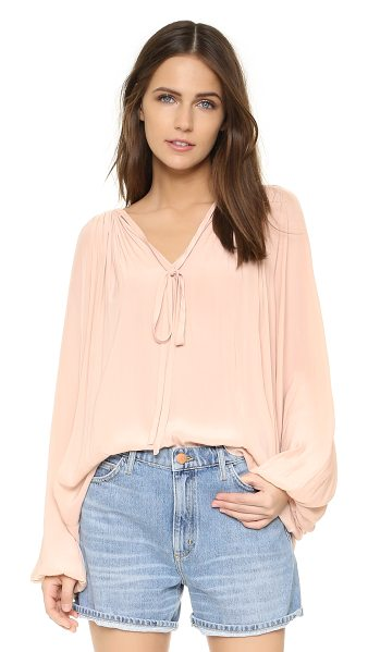 Ramy Brook paris blouse in blush