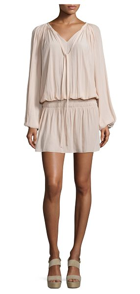 Ramy Brook Paris Crinkled Voile Dress in blush - Ramy Brook Paris dress in crinkled fabric. Approx....