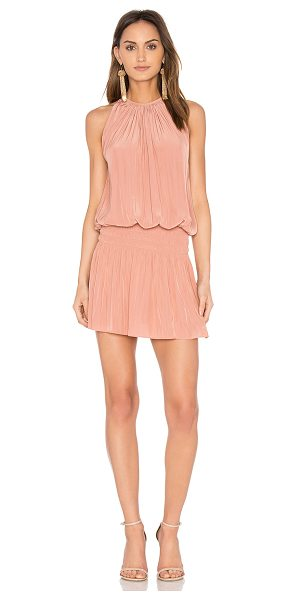 Ramy Brook Paris Sleeveless Dress in pink - 100% poly. Dry clean only. Unlined. Smocked waist. Back...