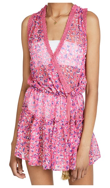Ramy Brook printed donica dress in cerise pink combo