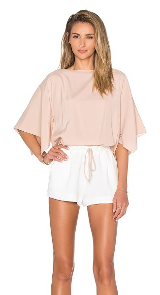 Ramy Brook Roy romper in blush - Self: 95% poly 5% spandexContrast: 100% poly. Dry clean...