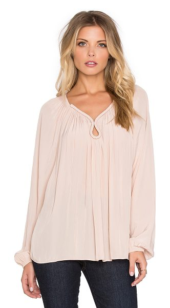 Ramy Brook Valentina long sleeve top in blush