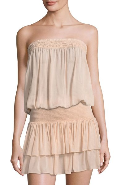 Ramy Brook yanni tube top in blush - Flirty tube top with flattering bloused bodice. Straight...