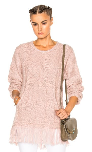 RAQUEL ALLEGRA Baja Pullover Sweater in rose quartz - 68% baby alpaca 22% nylon 10% merino wool. Made in...