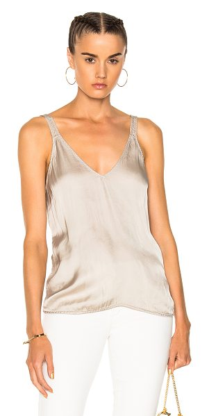 Raquel Allegra Camisole Top in gray,metallics - 54% viscose 46% cotton.  Made in USA.  Dry clean only. ...