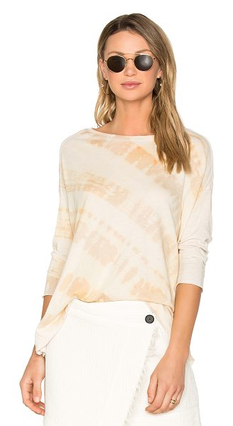 RAQUEL ALLEGRA Cocoon Tee in desert tie dye - 50% cotton 50% poly. Hand wash warm. Unfinished...