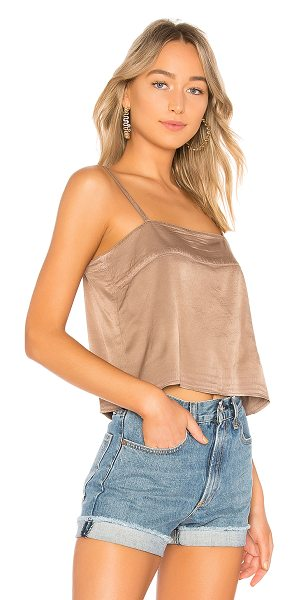 Raquel Allegra Cropped Cami in taupe