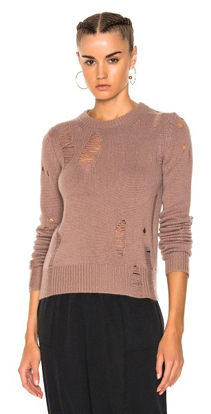 Raquel Allegra Fitted Crewneck Sweater in pink,purple - Raquel Allegra gained instant popularity for her...