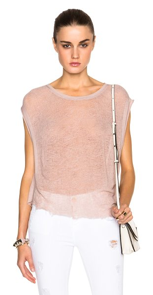 RAQUEL ALLEGRA Homage top - 50% cotton 50% poly.  Made in USA.  Deconstructed...