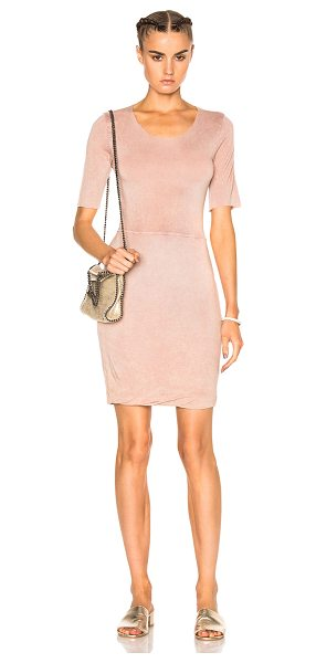 Raquel Allegra Jersey Twist Dress in pink - 100% rayon.  Made in USA.  Hand wash.  Partially lined. ...