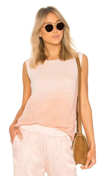 Raquel Allegra Muscle Tee in blush - Hues of light gradient blush tones add a feminine...