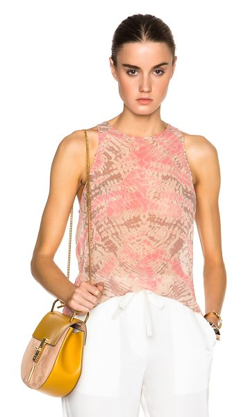 RAQUEL ALLEGRA Silk tank top - 100% silk.  Made in USA.  Sheer fabric.  Raw cut frayed hem.