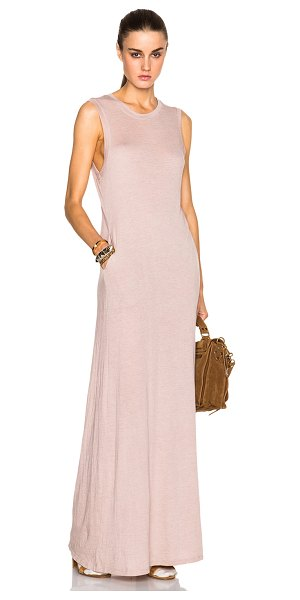 Raquel Allegra Sleeveless maxi dress in pink - 50% cotton 50% poly.  Made in USA.  Unlined.  Side slit...