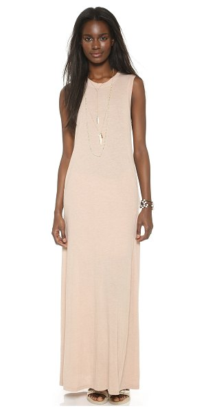 Raquel Allegra Sleeveless maxi dress in rose - A relaxed fit and muscle tee bodice lend casual appeal...