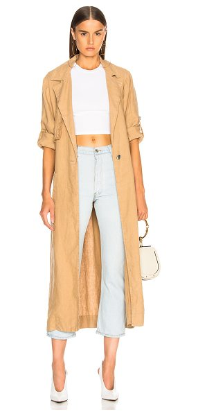 Raquel Allegra Trench in brown