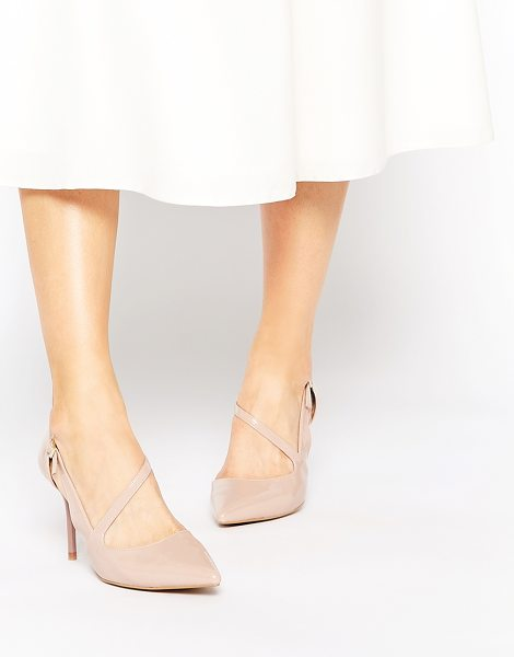 Ravel Strap Point Heeled Shoes in beige