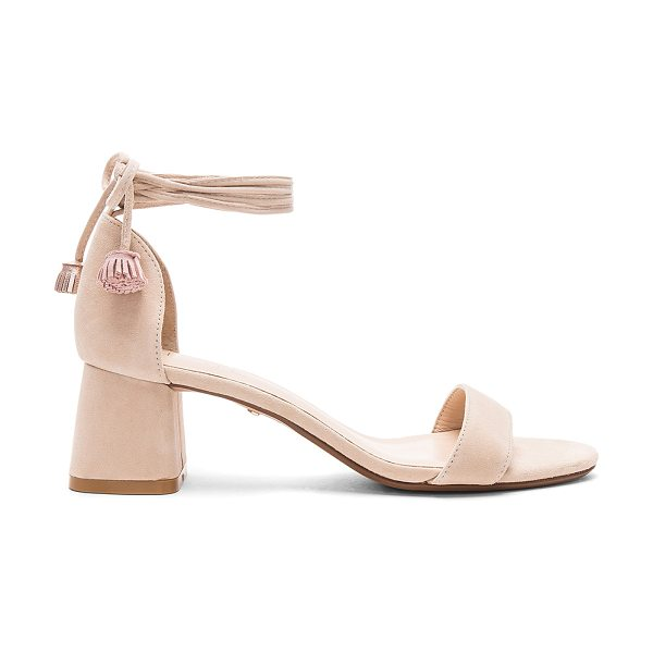 "RAYE Aubrey Heel in beige - ""A simple wrap detail with dainty tassel accents, modest..."