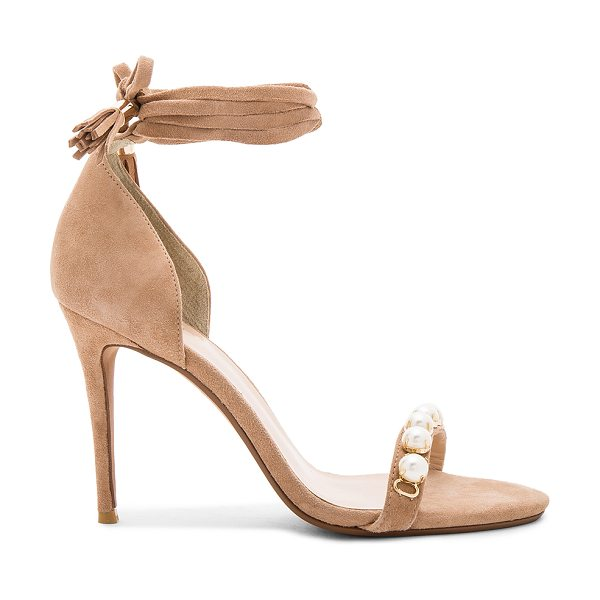 RAYE Bennie Heel with Pearl in tan - Classy girls wear pearls. RAYE's Bennie Heel features a...