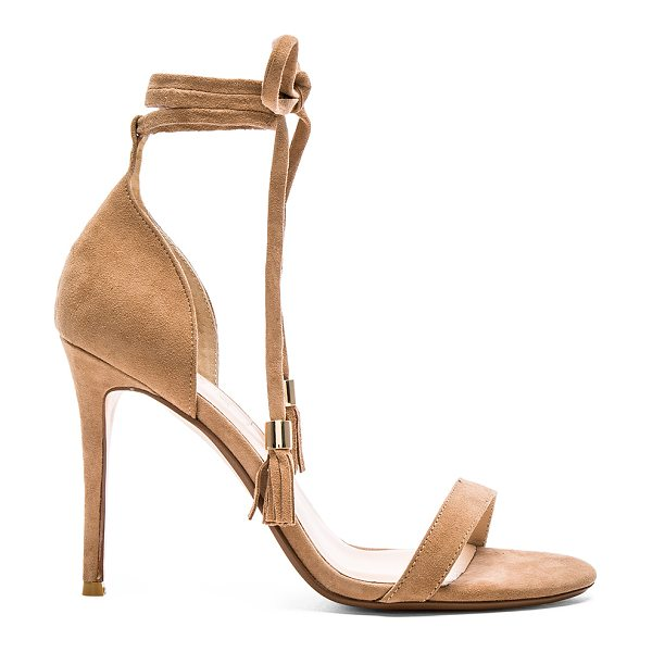 RAYE Bennie Heel in beige - Suede upper with man made sole. Wrap tie closure with...