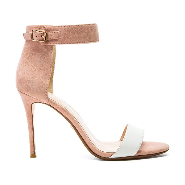 RAYE Betty heel - Suede upper with man made sole. Buckle closure....
