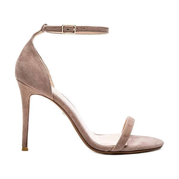 "RAYE Blake Heel in taupe - ""Suede upper with man made sole. Ankle strap with buckle..."