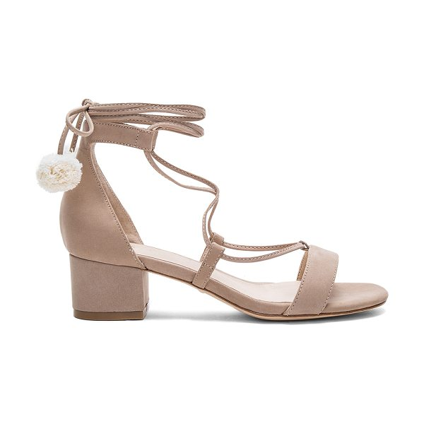 RAYE Capri Heel in taupe - Shake it up. RAYE?s Capri Heels feature a front lace-up...