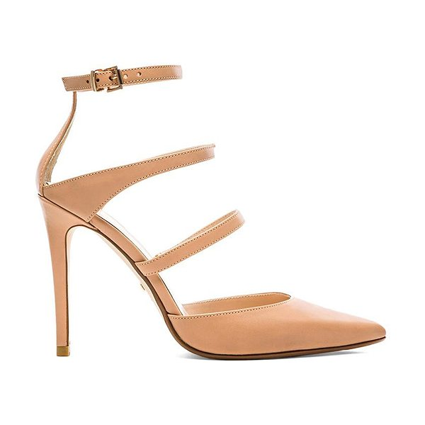 RAYE Carrie Heel in beige - Leather upper with man made sole. Heel measures approx...